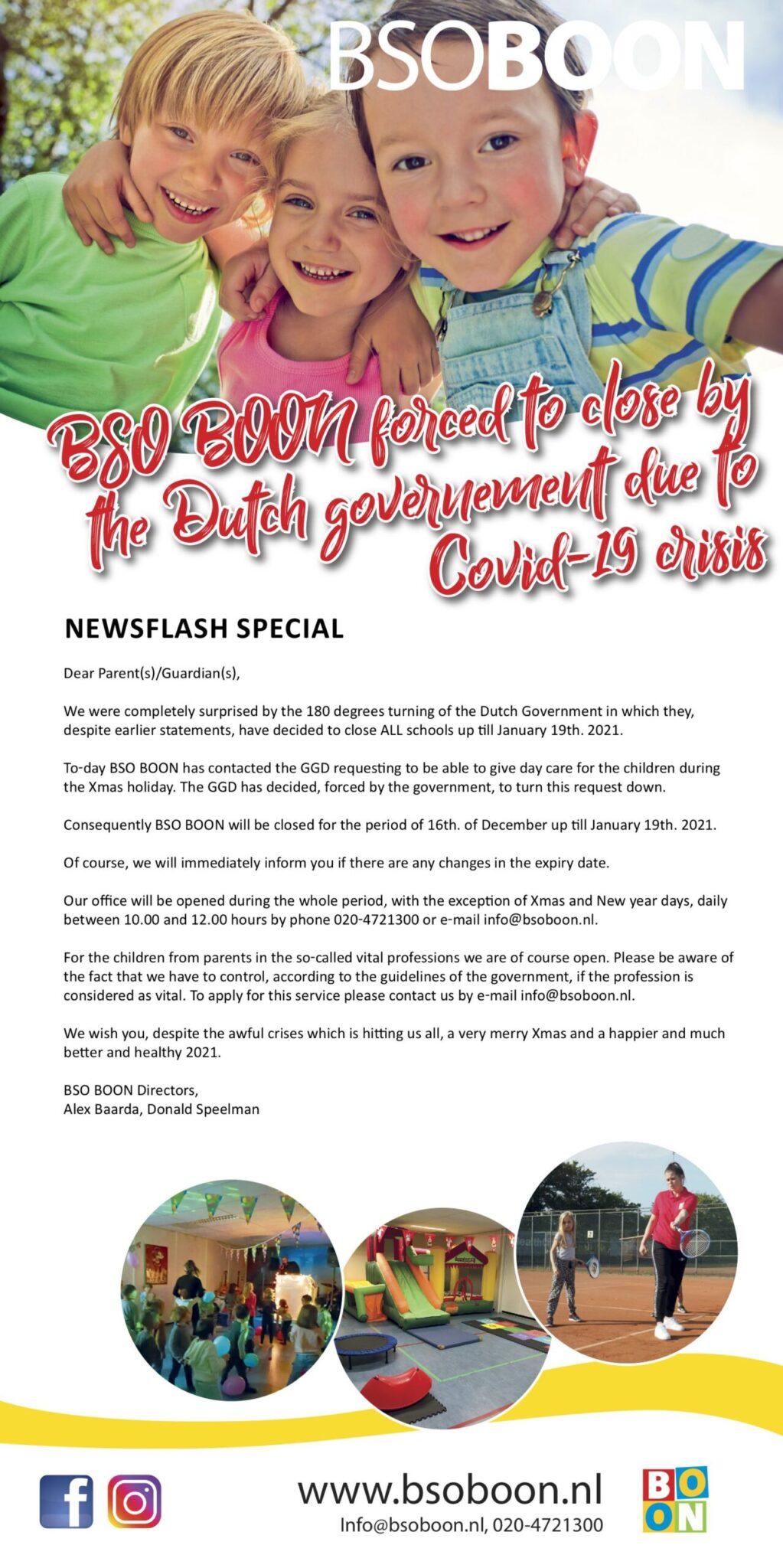 Newsflash december 2020 close corona UK
